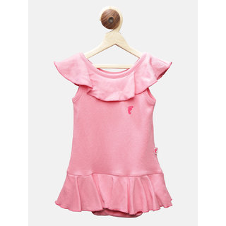 First Kick Girl Kids Pink Color Bodysuit
