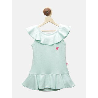 First Kick Girl Kids MintGreen Color Bodysuit