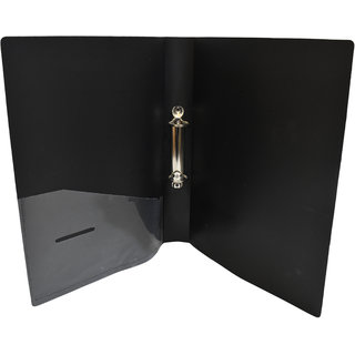 Ezellohub Black File folder Ring Binder File  31 x 23 x 2 cm  (Pack of 6)