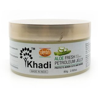 Khadi Aloe Fresh Petroleum Jelly -80 Gm (Pack of 2)
