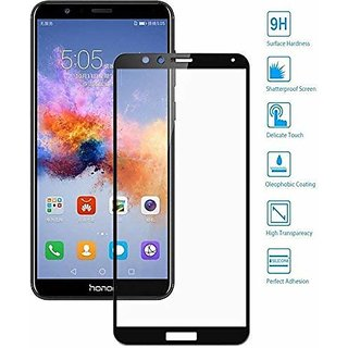 Honor 7X 6D Glass Black Full Covrage, Fully Glue 9H Hardness Tempered Glass  High Qaulity