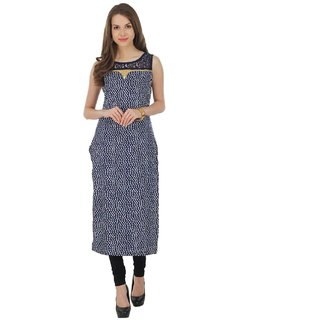 NOWT BLUE Party and Casual Wear Kurti (RWAPKU043BLU36)