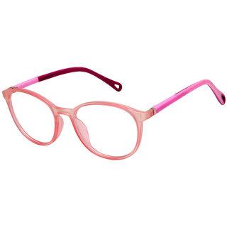 Cardon Pink Round Full Rim EyeFrame For Kids