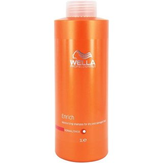 Wella Professionals Enrich Moisturising Shampoo 1000ml For Dry And Damaged Hair