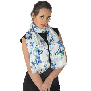 Belleziya Viscose Mix Print Ladies Scarves  Latest Style  New Collection  Cool Fashion Scarf  Sky Blue, Royal Blue