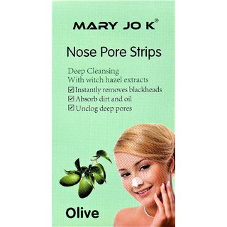 Mary Jo k Deep Cleansing Nose Pore Strips (Olive) 10 Strips
