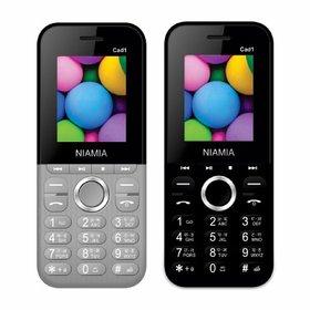 Niamia CAD 1 Basic Keypad Feature Mobile Phone Combo (Grey / Black)