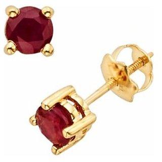 Ruby/Manik Earring Natural & Lab Certified Earring Stud Earring Jaipur Gemstone