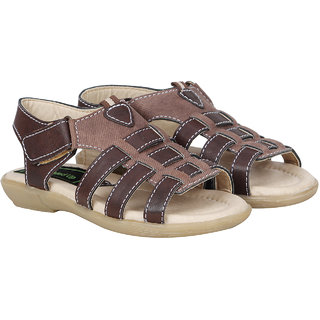 Buckled Up Brown Open Toe Sandal
