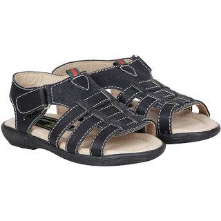 Buckled Up Black Open Toe Sandal
