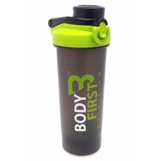 BodyFirst Shaker Bottle with Blender Ball (Green, Black)