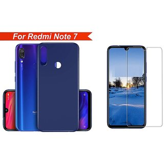 Mascot Max back cover slim flexible cover with 0.33mm 2.5D tempered glass for Redmi note7