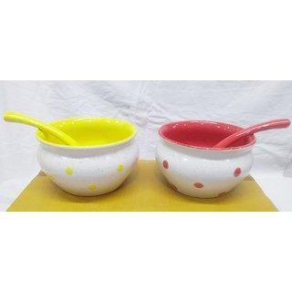 Soup Bowls set (with spoons), 2 pcs
