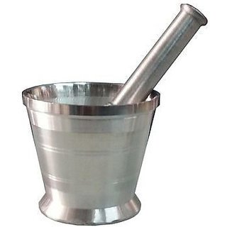 Aluminium Kitchen khalbatta Okhli Masher (Mortar And Pestle Set) medium size