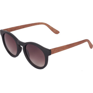6990918060abb Buy Ivy Vacker Multi-color Oval Wooden Sunglass for Men Online - Get 92% Off