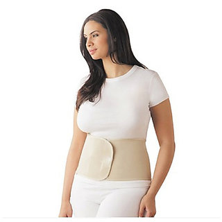 Kudize Advance Abdominal Belt Post Pregnency Tummy Trimmer Neoprene Deluxe Waist Support Back Support Binder Beige (L)