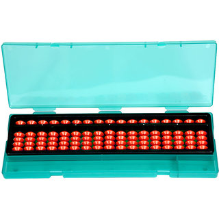 Aadithya Corp -17 ROD Brown with Pencil Box Abacus kit  - Set of 1
