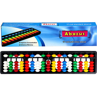 Aadithya Corp -17 ROD MultiColour with Box Abacus kit  - Set of 1