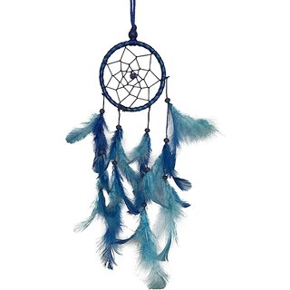 KSHIJU's Rear view mirror dream catchers Turquoise n Blue  3 inch Wall Hangings Home Dcor Nursery Dcor