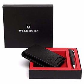 WildHorn Black Mens Wallet (GIFTBOX178)