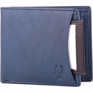 WildHorn Menrsquos Blue Genuine Leather Wallet
