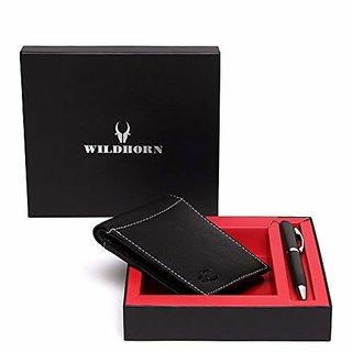 WildHorn Black Mens Wallet (GIFTBOX181)
