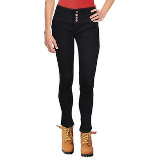 Blinder Black Women's 4-Button Skinny Denim Jeans