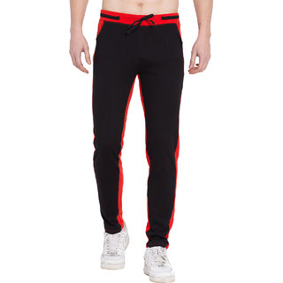 Cliths Trackpants For Mens gym / Red Black Lower For Men Stylish/Lower For Men Stylish