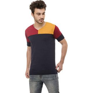 Ample Multicolor Half Sleeve Casual Men's T-Shirt