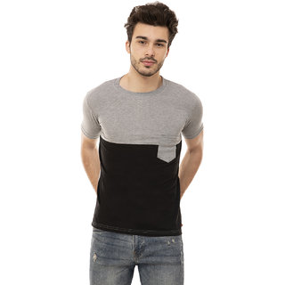 Ample black and gray  Casual Men's T-Shirt