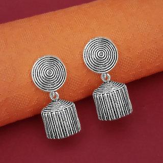 Meia Oxidised Plated Jhumki Earrings