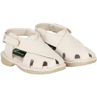 Buckled Up Beige Small Polka Dot sandal