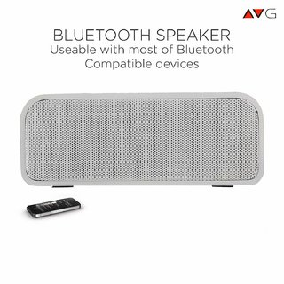 AVG P1 Wireless Portable Bluetooth Speaker with Extra Bass  Connectivity Supported USB  AUX  Micro SD Card Reader (3Wx2)