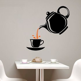 Asmi Collections Wall Sticker for Cafe, Restaurants, Kitchen A Cup of Tea