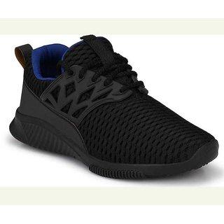 Vitegra Men's Panther Series Black Mesh Lace-up Running Shoes