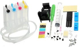 EMPTY CISS KIT FOR HP 685 Black, Cyan, Magenta  Yellow Ink Cartridges - HP DeskJet Ink Advantage 3525, 4615, 4625 Printers - 100 ML Each Bottle