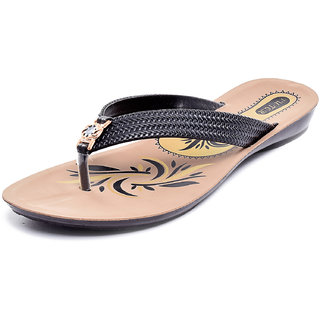 Gymsym women casual sandal(V Shape black(Z)