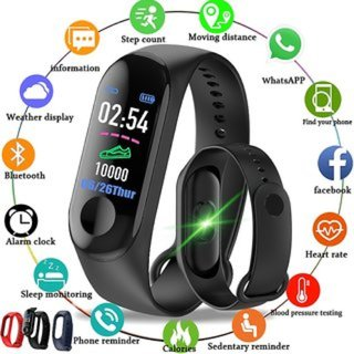 Nipser Touchscreen Oval Black Smart Watch Compatible With Android