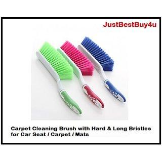 Carpet Cleaning Brush with Hard  Long Bristles for Car Seat / Carpet /Mats