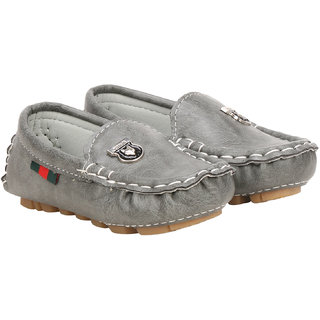 Buckled up Grey slip-on loafers