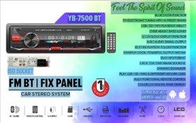 Yobat Car Stereo with Bluetooth USB FM AUX TF ID3 MP3 SD Card Support (Single Din) YB-7500BT