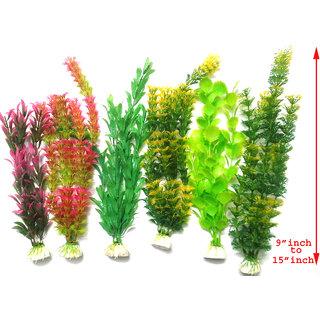 Artificial plastic plant  / aquarium decoration SET OF 6 -12inch