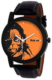 Radius Genuine Leather Strap Round Dial Wrist Watch For Men's RD-3031