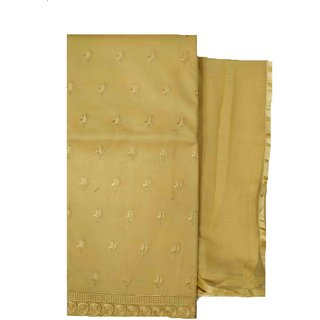 Varun Cloth House Womens Cotton Embroided Dress Material (vch5824, Yellow, Free Size)