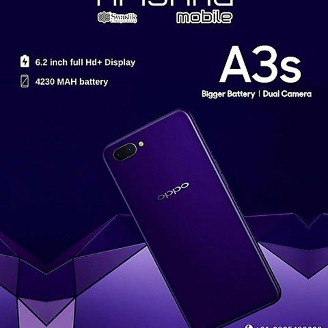 OPPO A3s with 6 2''screen,2GB-16GB,Dual rear camera,4230mAh