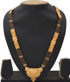 Radhe Krishna Gold Plated Alloy 4 Line Kalkati Work Long 24 inch Only Mangalsutra