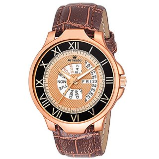 ARMADO AR-048-COPPER Day and Date Watch for Men