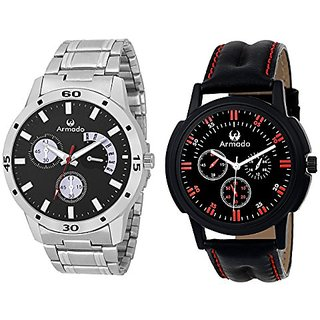 ARMADO AR-BLK7114 Combo of 2 Watches for Men