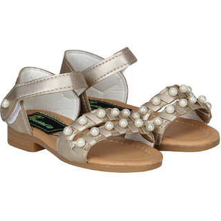 Buckled Up Gold Pearl sandal