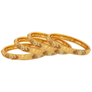 Voylla Meenakari Inspired Gold Plated Bangles